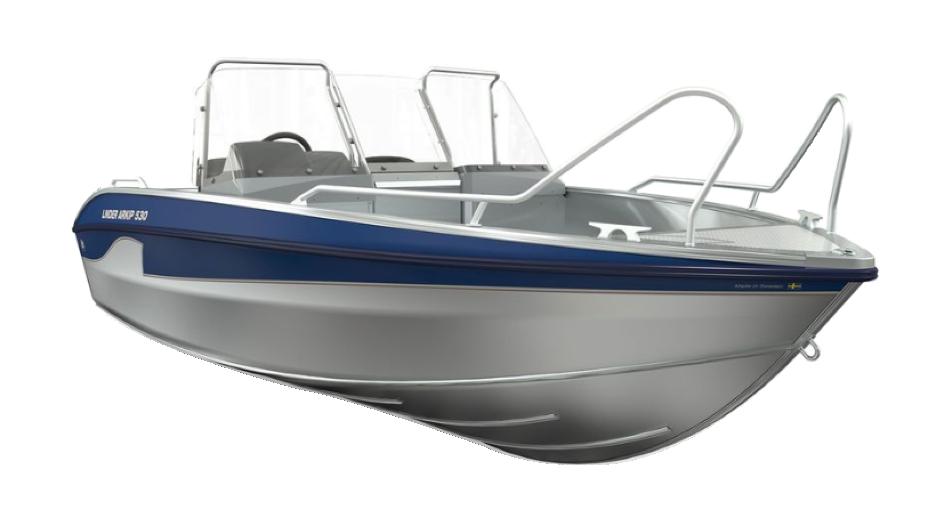 Figur 54. Sträckformat skrov på Linder båt.