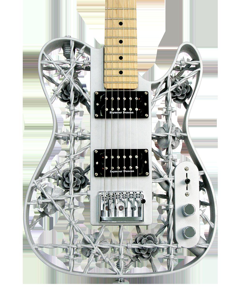 Figur 57. 3D printad elektrisk gitarr från Olaf Diegel.